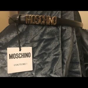 Moschino Belt With Mini Lettering Logo